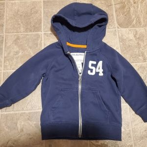 Toddler Boys Navy Blud Hooded Seeatshirt size 2T!